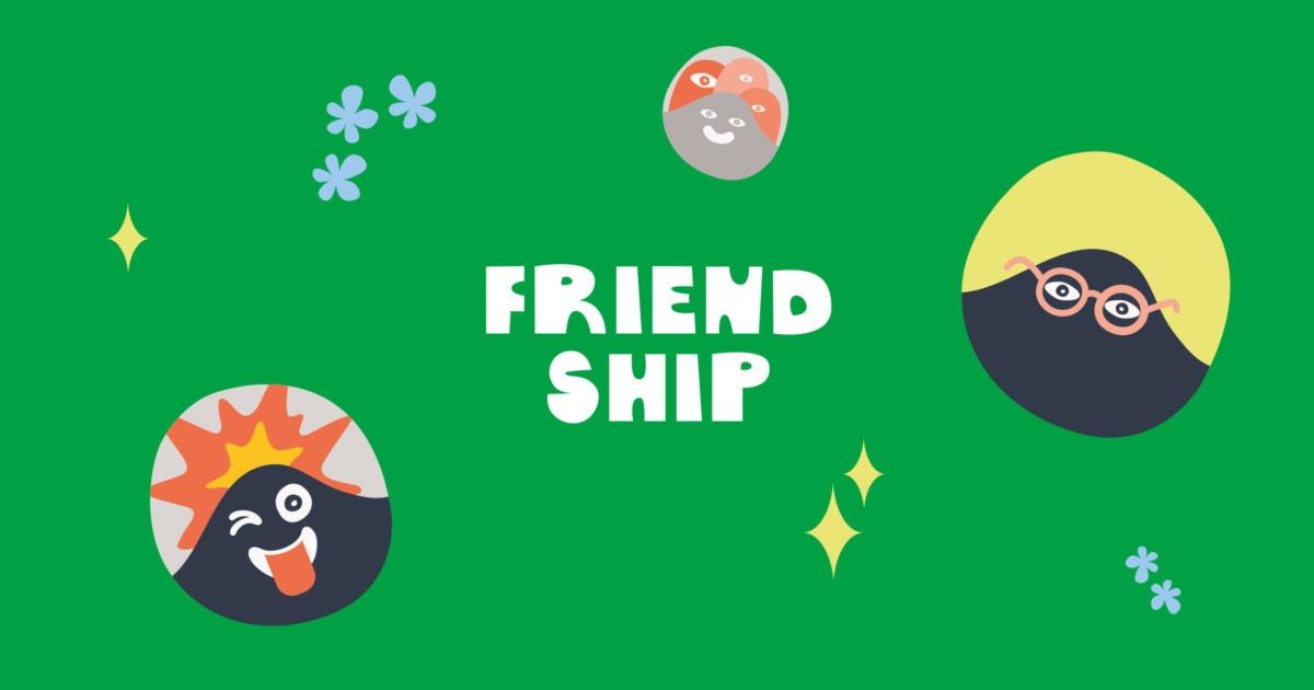 Friendship-sovelluksen logo vaaka